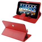 Custodia in Ecopelle Rossa Universale x Tablet 8''
